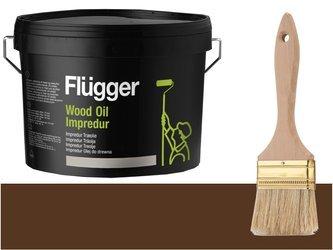 Flugger Wood Oil Impredur olej tarasu 2,8L BRĄZOWY