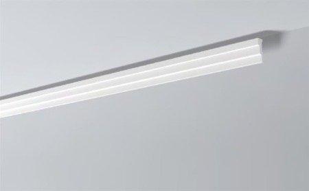 LISTWY PRZYSUFITOWE Białe NOMASTYL M2 60x20mm
