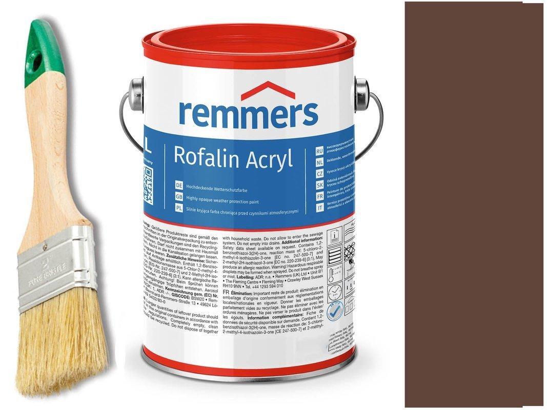 Remmers Rofalin Acryl farba do drewna BRĄZOWY 5 L