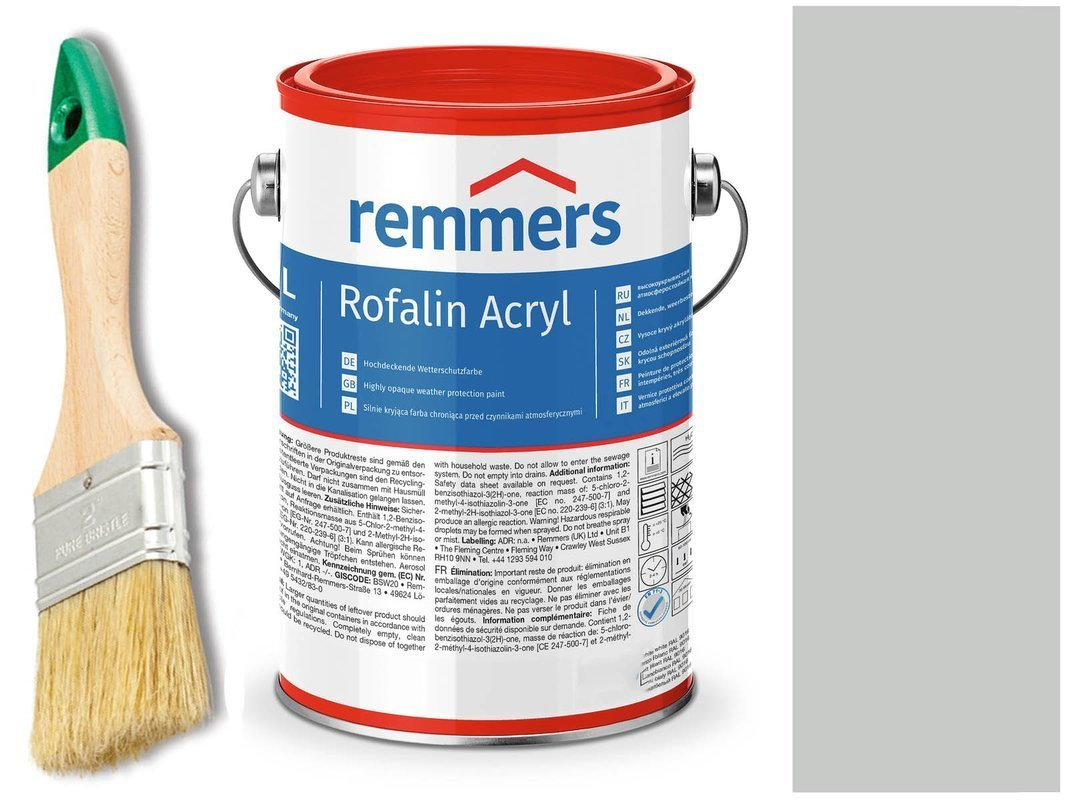 Remmers Rofalin Acryl farba do drewna SZARY 10 L
